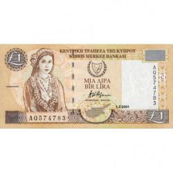 Chypre - Pick 60c - 1 livre - 01/02/2001 - Etat : pr.NEUF