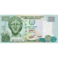Chypre - Pick 62c - 10 livres - 01/022001 - Etat : pr.NEUF