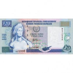 Chypre - Pick 63b - 20 livres - 2001 - Etat : SPL