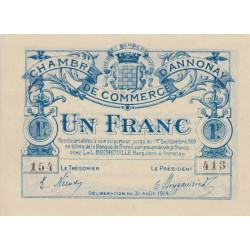 Annonay - Pirot 11-8 - 1 franc - 1914 - Etat : SPL