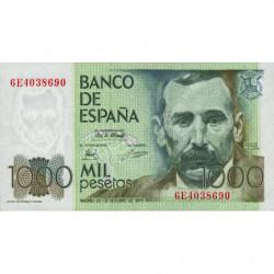 Espagne - Pick 158 - 1'000 pesetas - 23/10/1979 - Série 6E - Etat : SPL