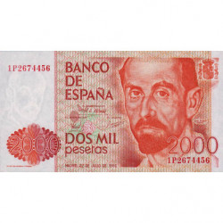 Espagne - Pick 159 - 2'000 pesetas - 22/07/1980 - Série 1P - Etat : SPL