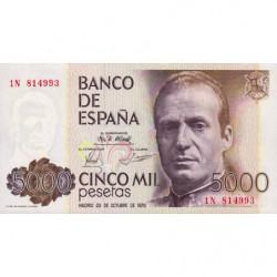 Espagne - Pick 160 - 5'000 pesetas - 23/10/1979 - Série 1N - Etat : NEUF