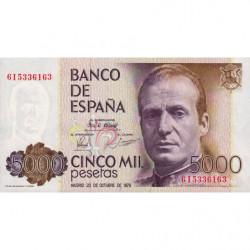 Espagne - Pick 160 - 5'000 pesetas - 23/10/1979 - Série 6I - Etat : NEUF