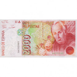 Espagne - Pick 162 - 2'000 pesetas - 24/04/1992 - Série D - Etat : NEUF