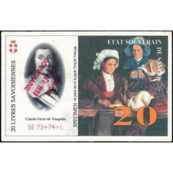 Billet savoisien - 20 Livres savoisiennes - 1998 - Etat : TTB+
