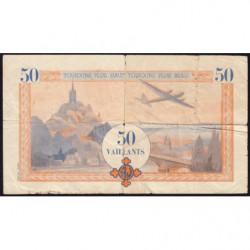 Billet de 50 vaillants - 4ème série /A - 1938-1943 - Etat : B