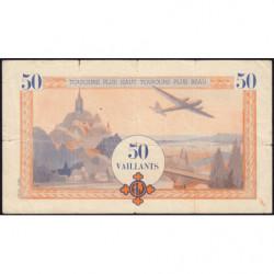 Billet de 50 vaillants - 4ème série /A - 1938-1943 - Etat : TB