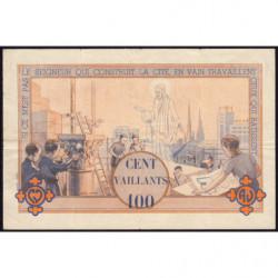 Billet de 100 vaillants - 4ème série /A - 1938-1943 - Etat : TB+