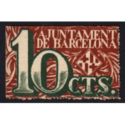 Espagne - Barcelona - Pick non rép. - 10 centimos - 02/12/1937 - Etat : NEUF
