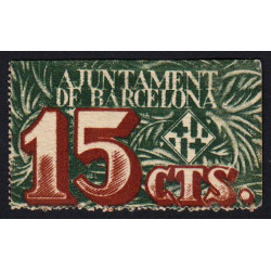Espagne - Barcelona - Pick non rép. - 15 centimos - 02/12/1937 - Etat : SPL