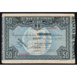 Espagne - Bilbao - Pick S564f - 50 pesetas - 01/01/1937 - Etat : TTB+