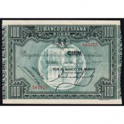 Espagne - Bilbao - Pick S565a - 100 pesetas - 01/01/1937 - Etat : SPL