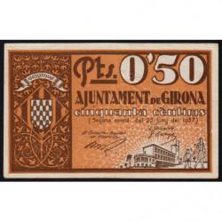 Espagne - Girona - Pick non rép. - 50 centimos - 25/06/1937 - Etat : SUP+
