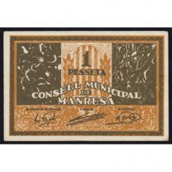 Espagne - Manresa - Pick non rép. - 1 pesseta - 1937 - Etat : SPL