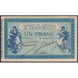 Algérie - Philippeville 142-4 - 1 franc - 10/11/1914 - Etat : SPL