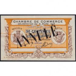 Algérie - Bougie-Sétif 139-04 - 50 centimes - 09/03/1918 - Annulé - Etat : TTB+