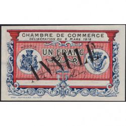 Algérie - Bougie-Sétif 139-7 annulé - 1 franc - 09/03/1918 - Etat : TTB+ à SUP