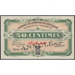 Algérie - Constantine 140-7 annulé - 1 franc - Série V22 - 07/11/1916 - Etat : SUP+