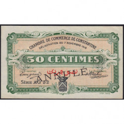 Algérie - Constantine 140-9 annulé - 1 franc - Série AG32 - 07/11/1916 - Etat : SUP+