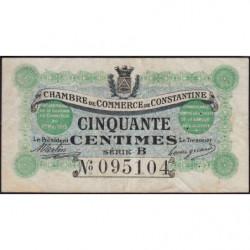 Algérie - Constantine 140-3 - 50 centimes - Série B - 01/05/1915 - Etat : TB+