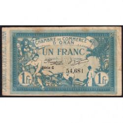 Algérie - Oran 141-2 - 1 franc - Série C - 12/05/1915 - Etat : TB-