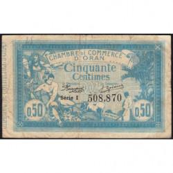 Algérie - Oran 141-4 - 50 centimes - Série I - 10/11/1915 - Etat : B+