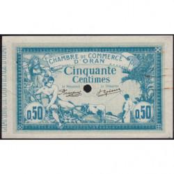 Algérie - Oran 141-7 - 50 centimes spécimen - 10/11/1915 - Etat : SUP