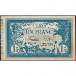Algérie - Oran 141-8 - 1 franc - Série IV - 10/11/1915 - Etat : SUP