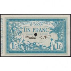 Algérie - Oran 141-12 - 1 franc spécimen - 10/11/1915 - Etat : SUP+