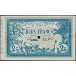 Algérie - Oran 141-17 - 2 francs spécimen - 10/11/1915 - Etat : SUP+