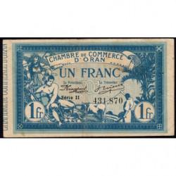 Algérie - Oran 141-20 - 1 franc - Série II - 1918 - Etat : TB+