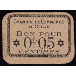 Algérie - Oran 141-50 - 0,05 franc - 1916 - Etat : SUP