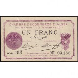 Algérie - Alger 137-1 - 1 franc - Série 153 - 03/09/1914 - Etat : TTB
