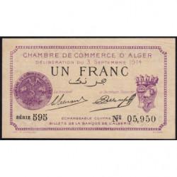 Algérie - Alger 137-1 - 1 franc - Série 595 - 03/09/1914 - Etat : SUP