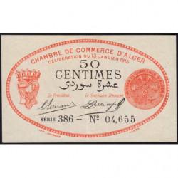 Algérie - Alger 137-5 - 50 centimes - Série 386 - 13/01/1915 - Etat : SPL
