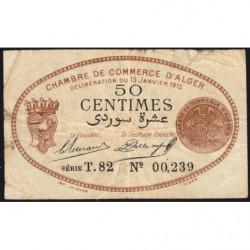 Algérie - Alger 137-9 - 50 centimes - Série T.82 - 13/01/1915 - Etat : B+