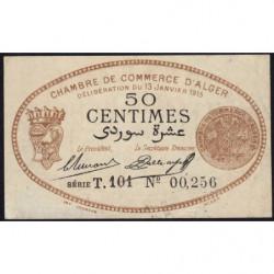 Algérie - Alger 137-9 - 50 centimes - Série T.101 - 13/01/1915 - Etat : TTB+