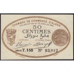 Algérie - Alger 137-9 - 50 centimes - Série T.155 - 13/01/1915 - Etat : SUP+