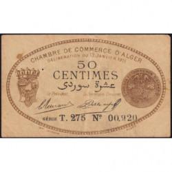 Algérie - Alger 137-9 - 50 centimes - Série T.275 - 13/01/1915 - Etat : TB+