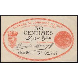 Algérie - Alger 137-5 - 50 centimes - Série 86 - 13/01/1915 - Etat : SPL