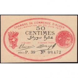 Algérie - Alger 137-11 - 50 centimes - Série P.39 - 25/06/1919 - Etat : pr.NEUF