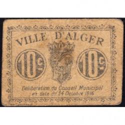 Algérie - Alger 3 - 10 centimes - 24/10/1916 - Etat : TB-