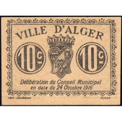 Algérie - Alger 3 - 10 centimes - 24/10/1916 - Etat : SPL