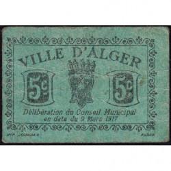 Algérie - Alger 5a - 5 centimes - 09/03/1917 - Etat : TTB