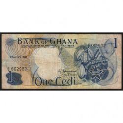 Ghana - Pick 10a - 1 cedi - Série Z/4 - 23/02/1967 - Etat : TB