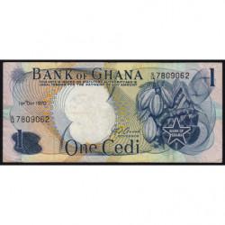 Ghana - Pick 10c - 1 cedi - Série G/14 - 01/10/1970 - Etat : TB+