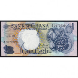 Ghana - Pick 10c - 1 cedi - 01/10/1970 - Etat : SPL