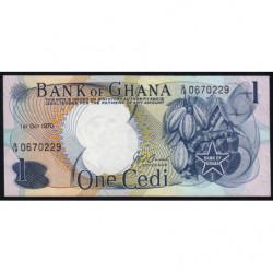 Ghana - Pick 10c - 1 cedi - Série G/18 - 01/10/1970 - Etat : SPL