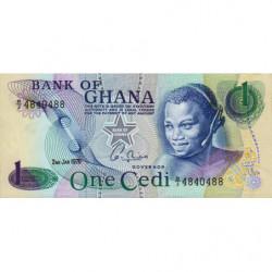 Ghana - Pick 13c_1 - 1 cedi - 02/01/1976 - Etat : NEUF